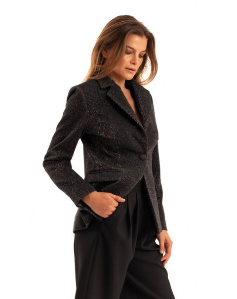 Black Shiny Blazer