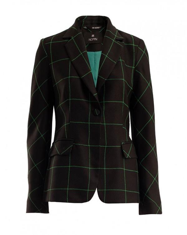 Checkered Blazer