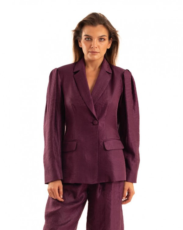 Shiny Blazer Purple