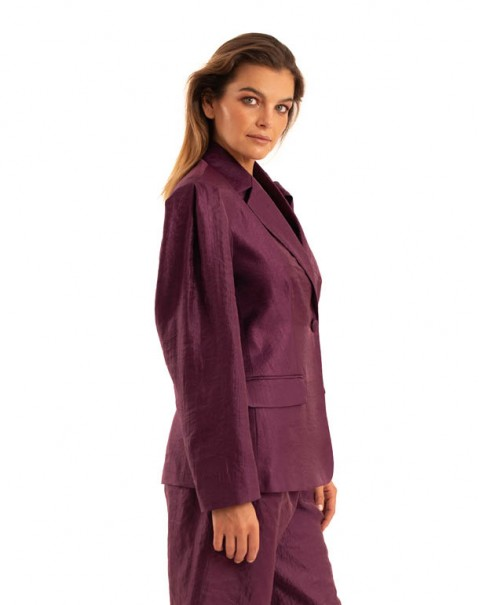 Shiny Blazer Purple
