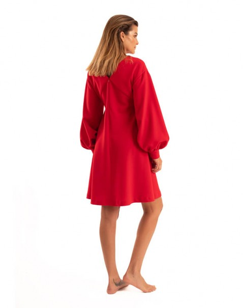 V-Neck Dress Red