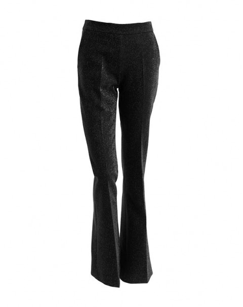 Flare Pants Black Shiny