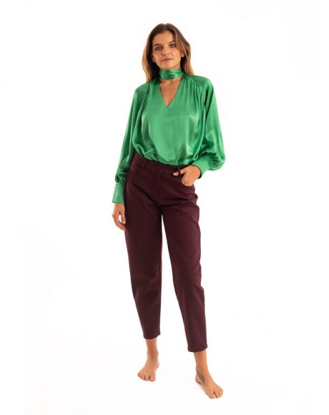Sarouel Pants Bordeaux