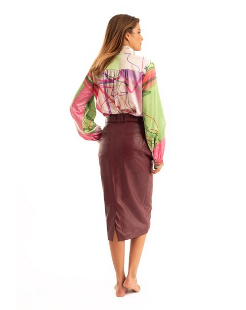 Midi Skirt Bordeaux