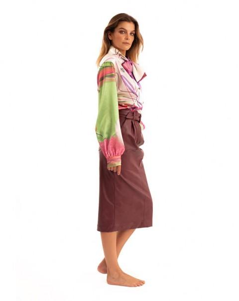 Midi Skirt Bordeaux