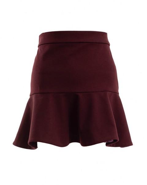 Mini Evasée Skirt Bordeaux