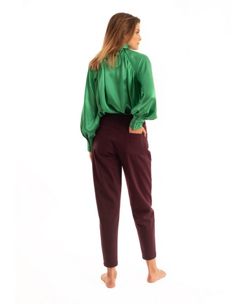 Natural Silk Shirt Green