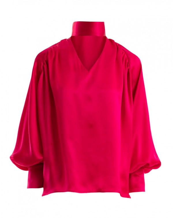 Natural Silk Shirt Pink