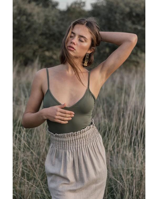 Ribbed Linen Skirt