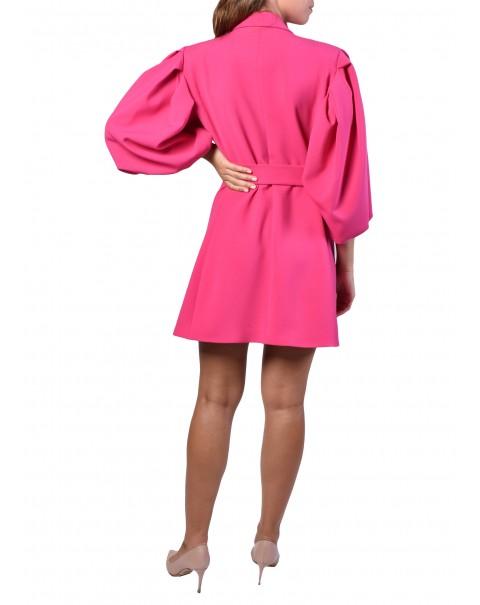 Balloon Sleeve Blazer Dress