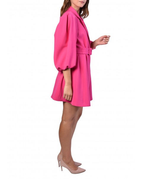 Balloon Sleeve Blazer Dress