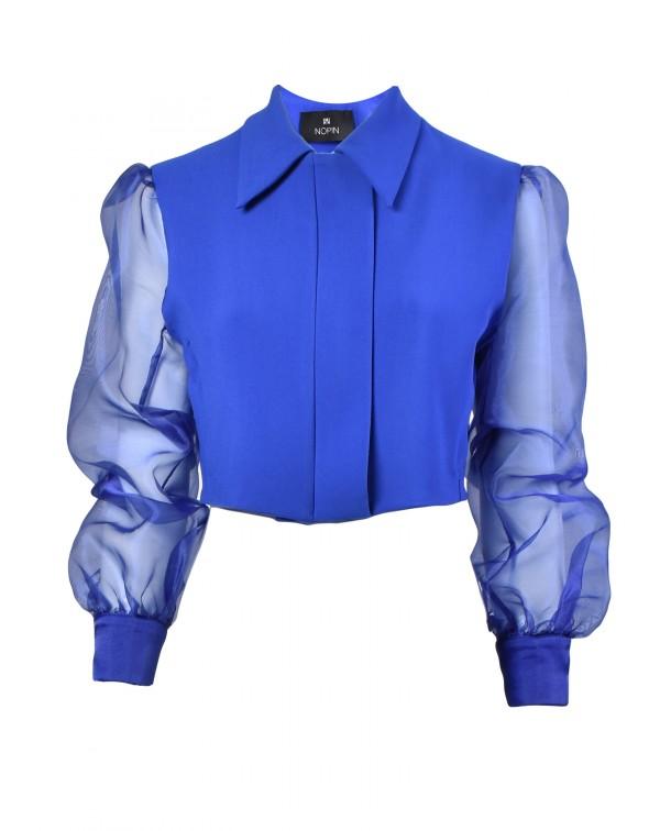 Short Jacket with Organza Sleeves