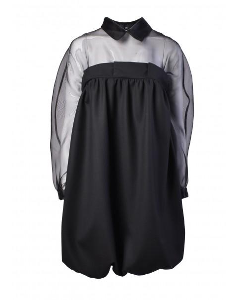 Balloon Dress with Organza