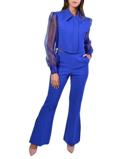 Flare Pants with Side Split