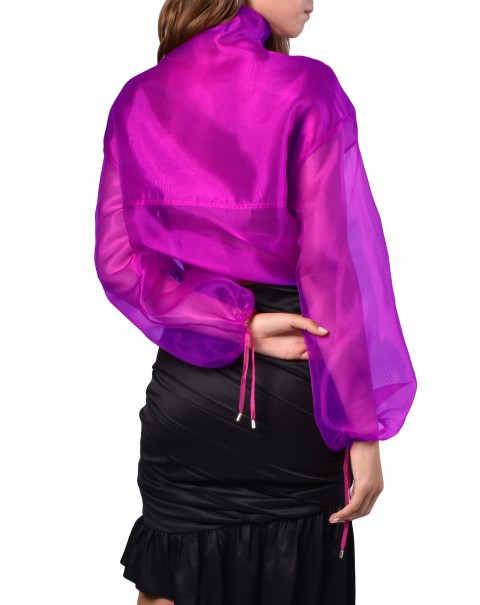 Purple Organza Sweatshirt
