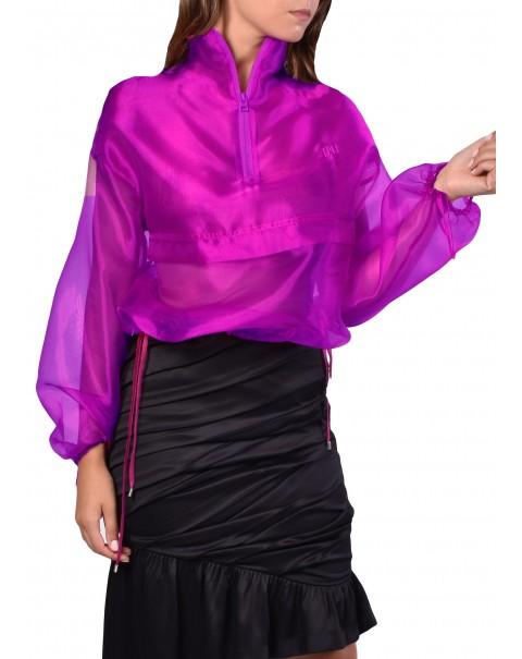 Purple Organza Sweatshirt