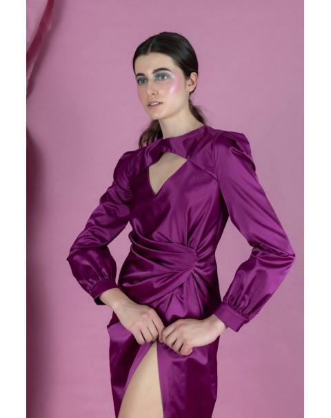 Purple Draped Dress