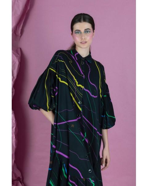 Oversized Printed NOPIN Dress