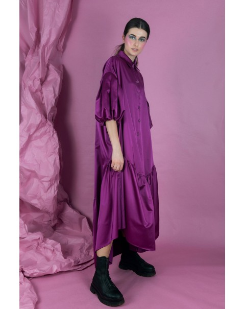 Long Purple Oversized Dress