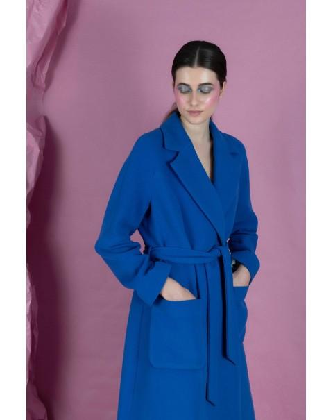 Long Blue Jacket with Belt