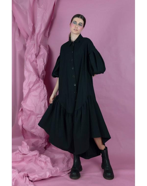 Long Black Oversized Dress