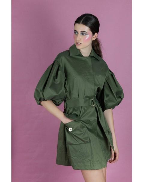 Olive Green Raincoat