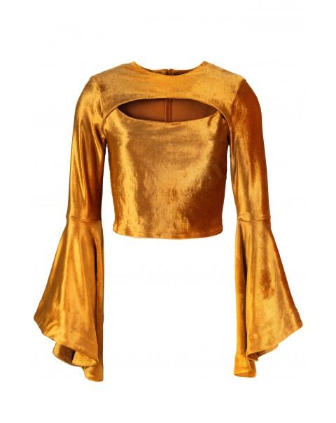 Bronze Velvet Sweater
