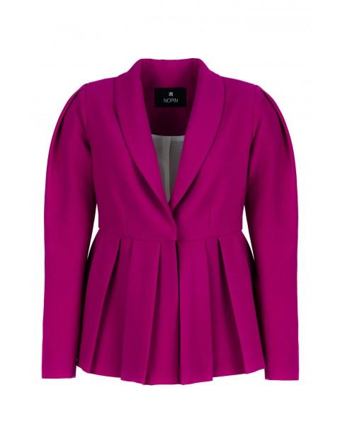 Purple V-neck Coat