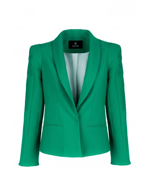 Green Blazer with Shoulder Pads