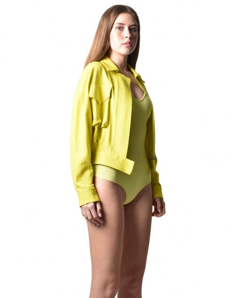 Lemon Cropped Jacket