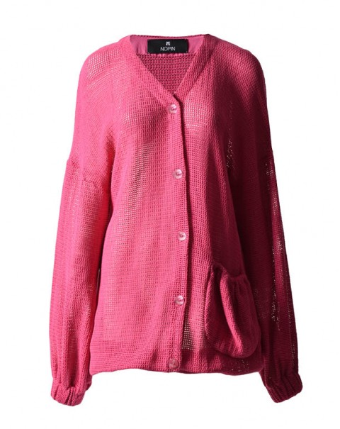 Organic Cotton Cardigan Pink