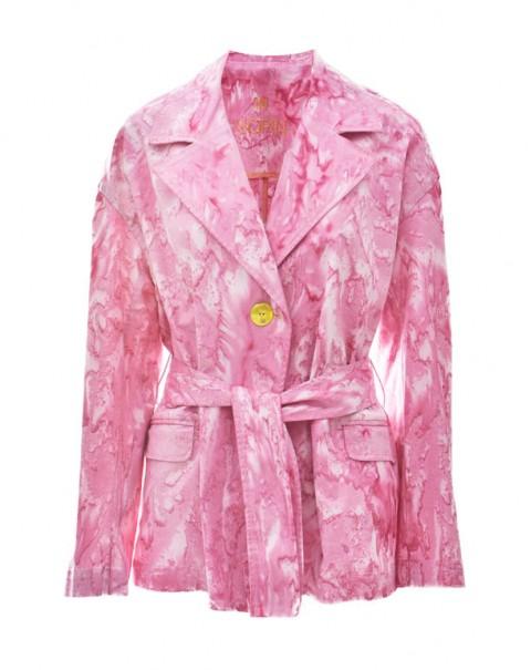 Tie-Dye Blazer Pink