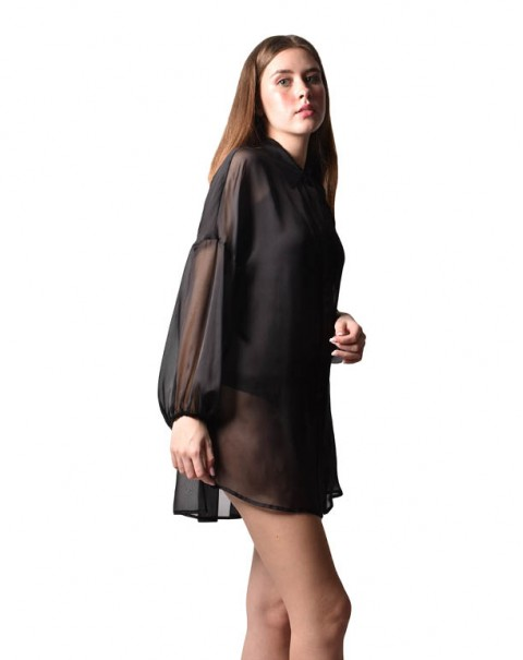 Dress V Sleeves Black