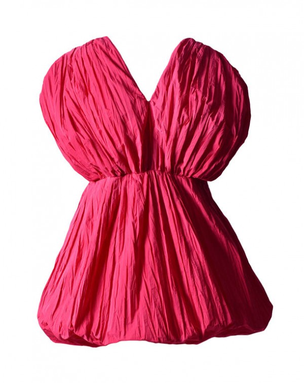 V Pleated Dress