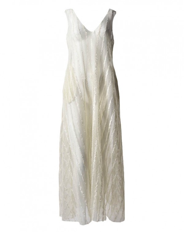 Long Dress of Recycled Fabric