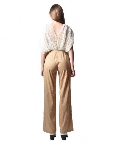 Shiny Pleated Jumpsuit