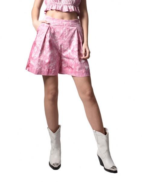 Tie-Dye Shorts Pink