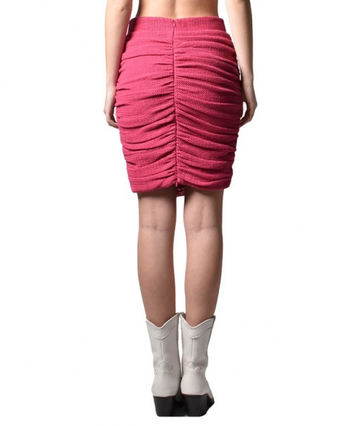 Organic Cotton Pencil Skirt Pink