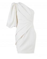 One Shoulder Pearl Dress