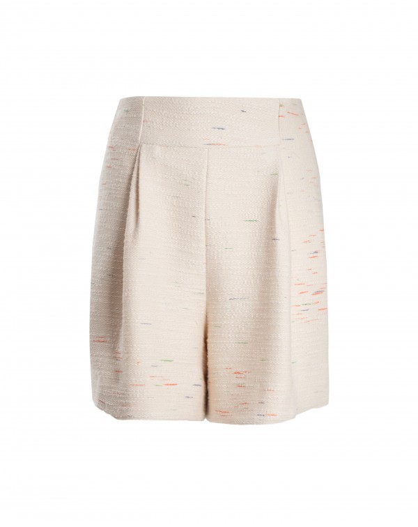 Pearl Double Pleated Shorts