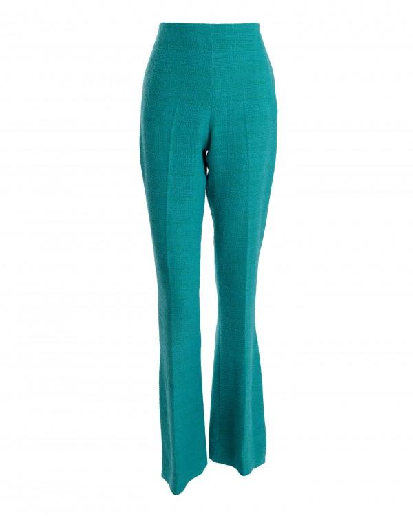 Blue Bell-Bottom Pants