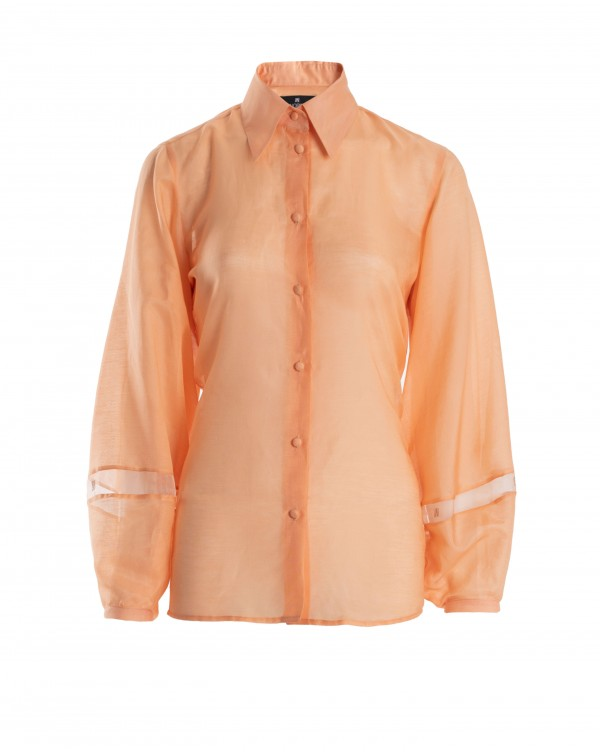 NOPIN Light Orange Silk Shirt
