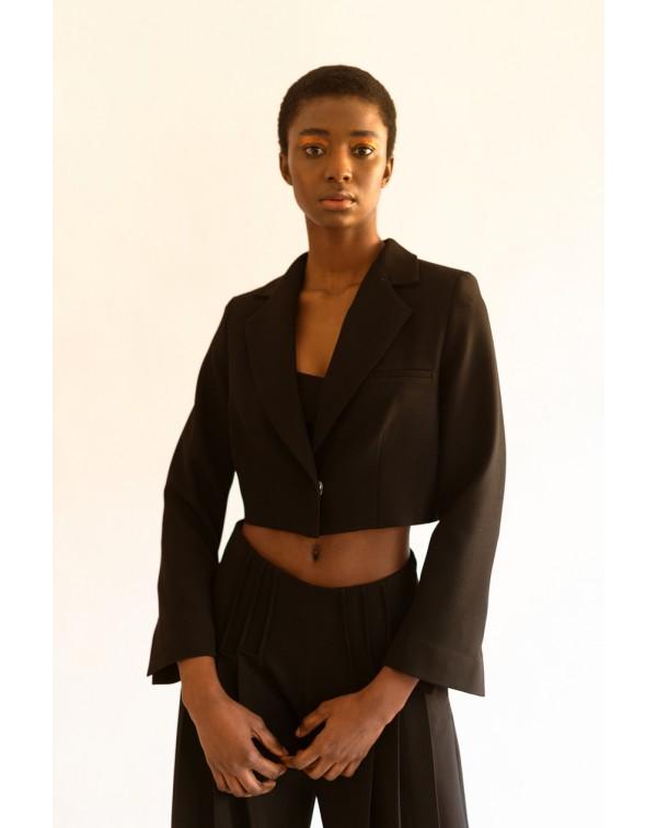 Black Cropped Blazer