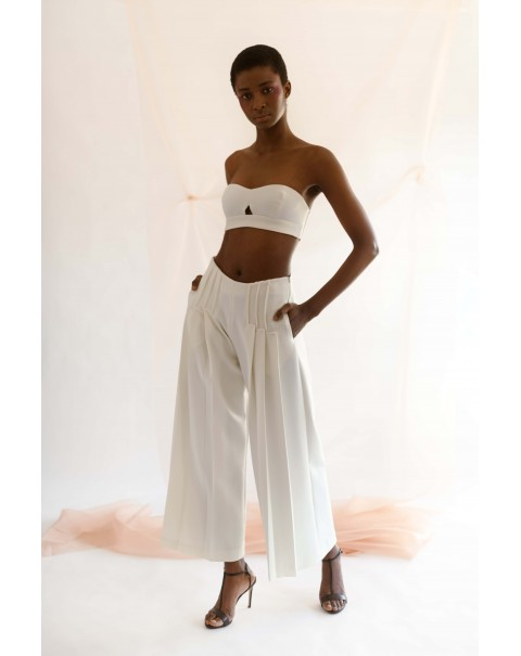 Pearl Ribbed Wide Pants